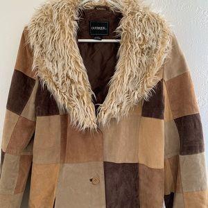 Leather patchwork hippie coat ✌🏻